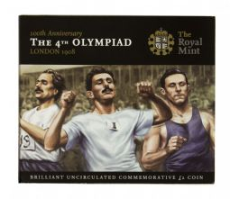 2008 £2 Olympiad Brilliant Uncirculated pack for sale